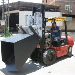 3-тонна кофа за прикачване на дизелов мотоциклет Hyundai с шарнирна вилка и кофа